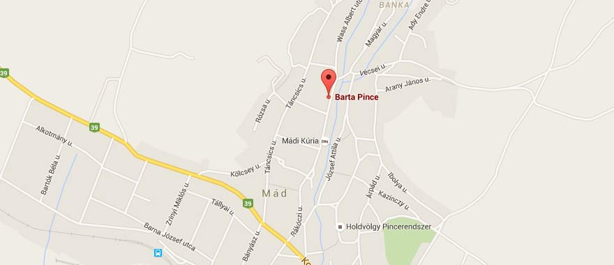 Barta Pince a Google térképen